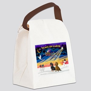 XmasSunrise/2 Dachshunds Canvas Lunch Bag